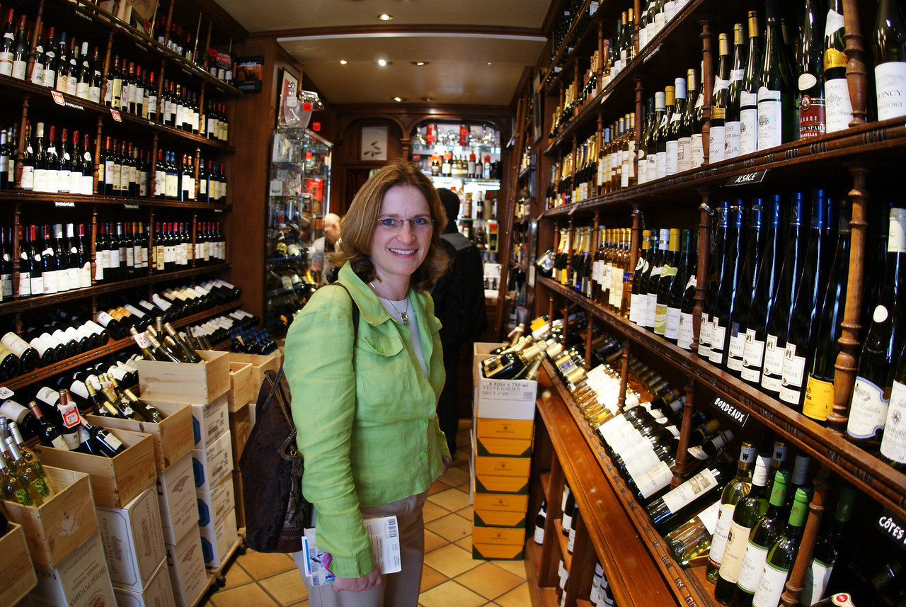 Can't go to Paris without walking into a wine shop and asking for a Bud, can you?