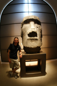 It's one of those heads from Easter Island! Why do my legs look so short?