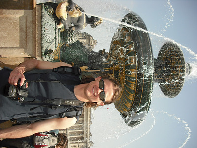 That's me in front of a fountain.  I don't remember being sideways.