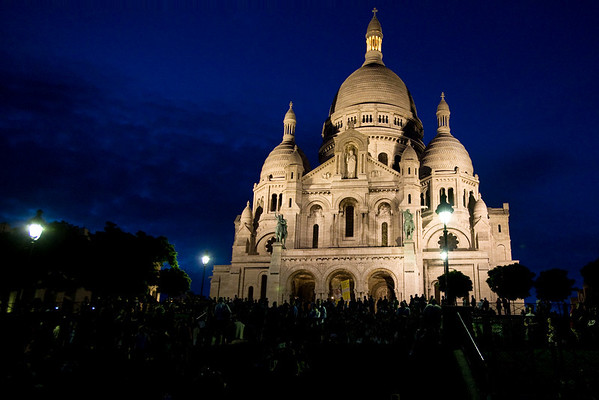 Sacre Coeur at night. Duh.