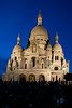 Sacre Coeur in the evening.