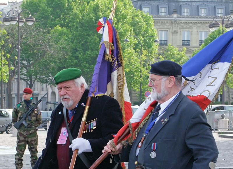 French Veterans at the ceremony.