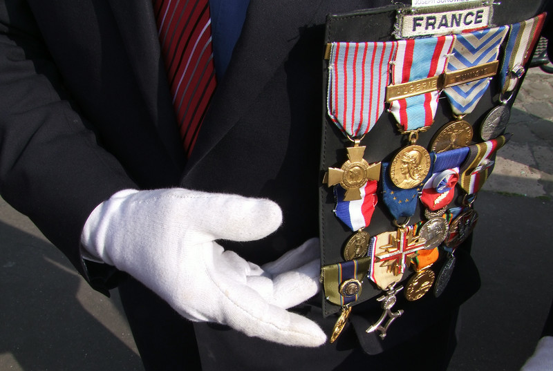The French Veteran was so proud of his American Legion pin and was so happy to meet us Americans.
