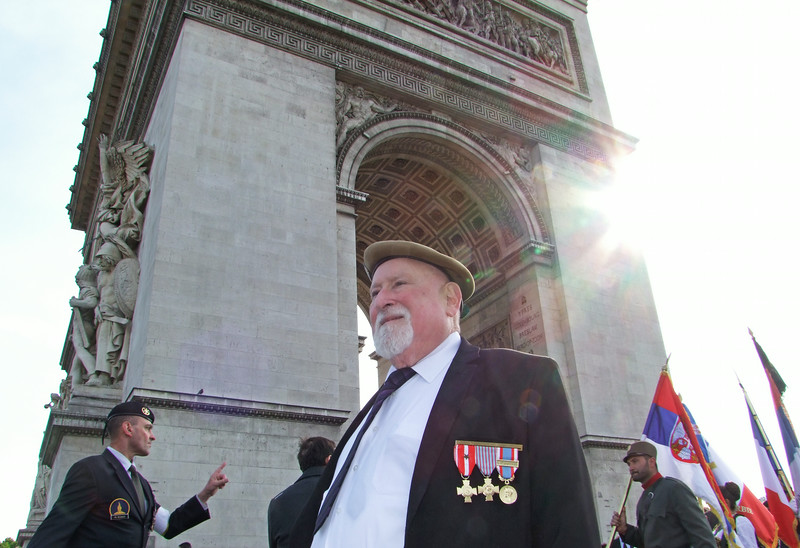 French Veteran at ceremony for French Unknown Soldiers.