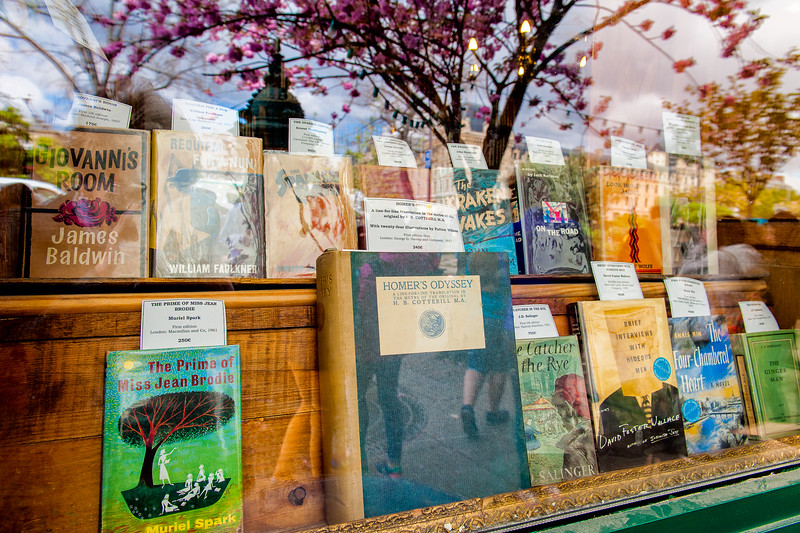 """The Font Window of the Quintessential Parisian Bookstore - 'Shakespeare and Company"""""""
