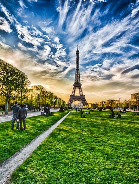 Eiffel Tower and a Paris evening.
