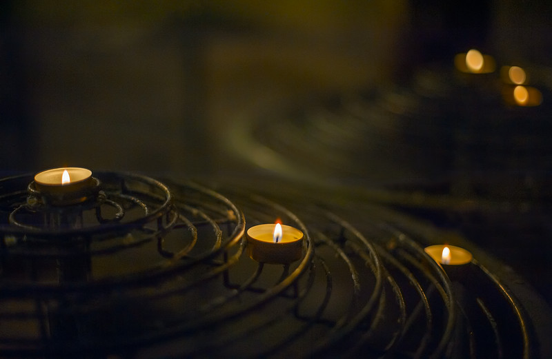 Memorial Candles lit for our Loved Ones