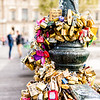 Lover's Locks on Pont des Arts Bridge in Paris