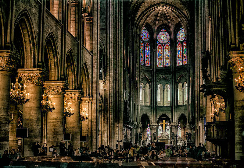 Notre Dame Cathedral de Paris  Interior