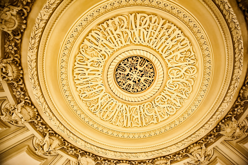 Ceiling  within the Opera National de Paris Garnier