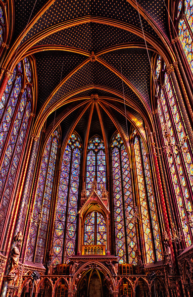 The Magnificant Stained Galss Windows of Ste. Chapelle