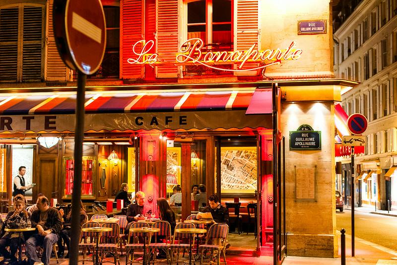 Nighttime Walk along Rue  Bonaparte