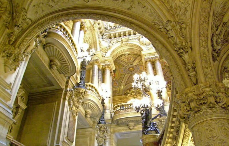 A view of a section of the Opera Garnier.