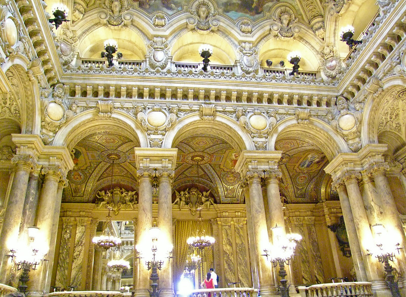The Opera Garnier is elaborately beautiful yet fully functional as an opera house.