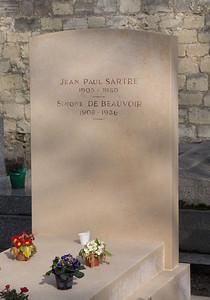 Sartre in Monparnasse Cemetery