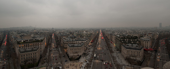 View from Arc de Triomph