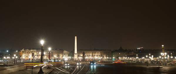 Night at Place de La Concorde