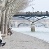 Lovers in Seine River bank