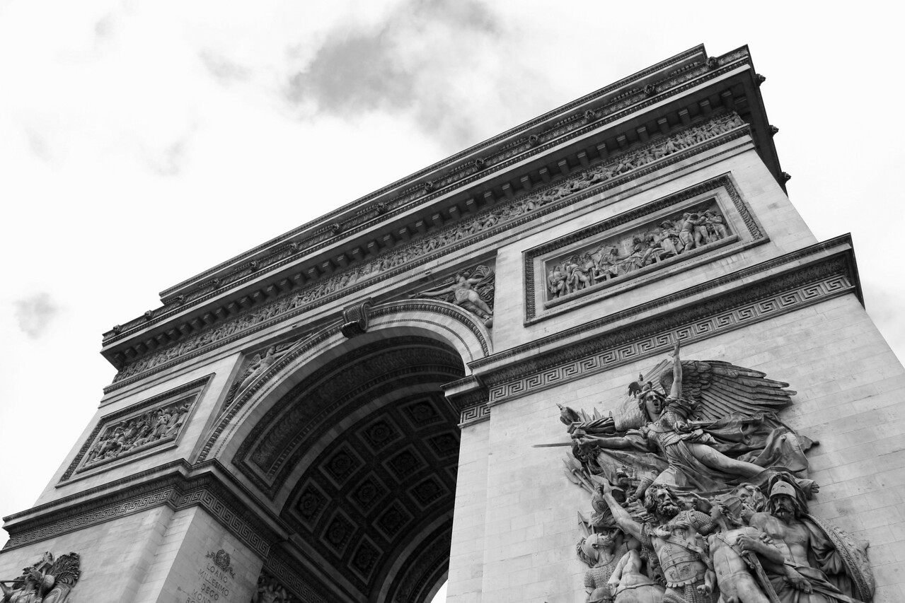 163 Scenes of Paris in Black and White 3 Arc de Triumphe