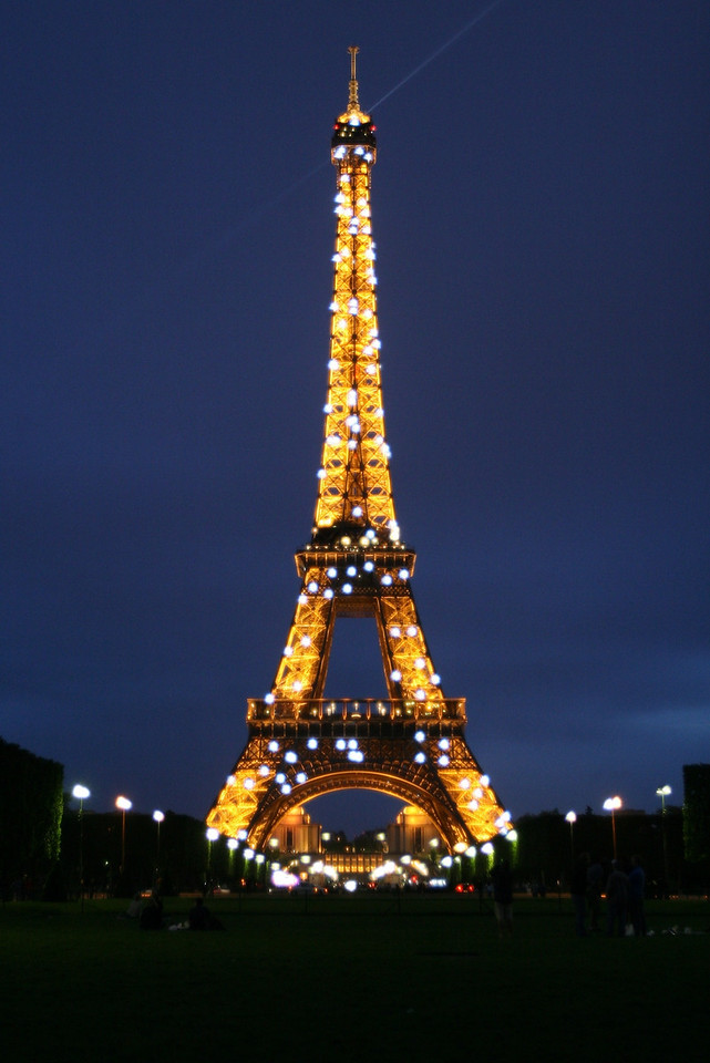 174 Paris at Night Eiffel Tower 1