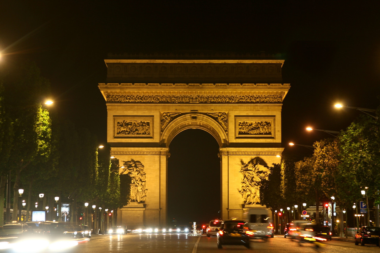 173 Paris at Night Arc de Triumphe 1