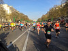 Paris, France. Marathon, Crowd Scene, Runners on Avenue Champs-Elysees,