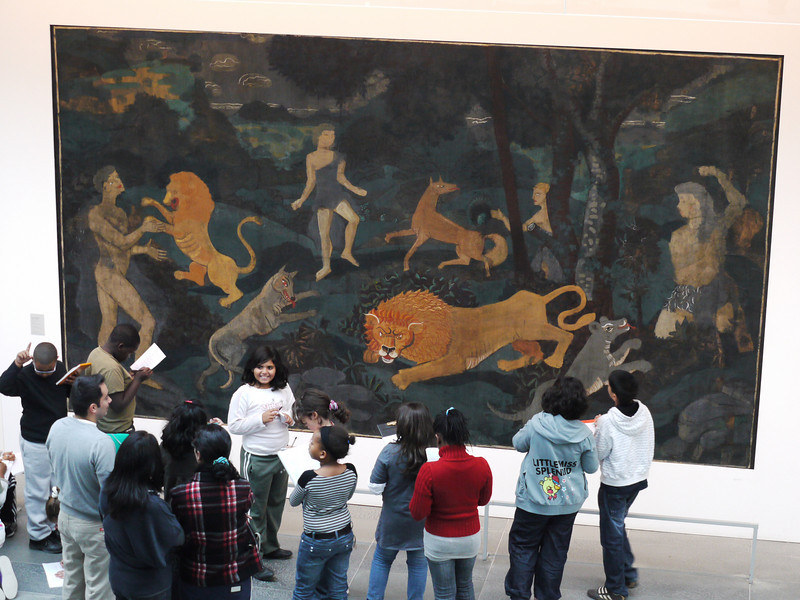 Imagining what it all means in L'Orangerie.