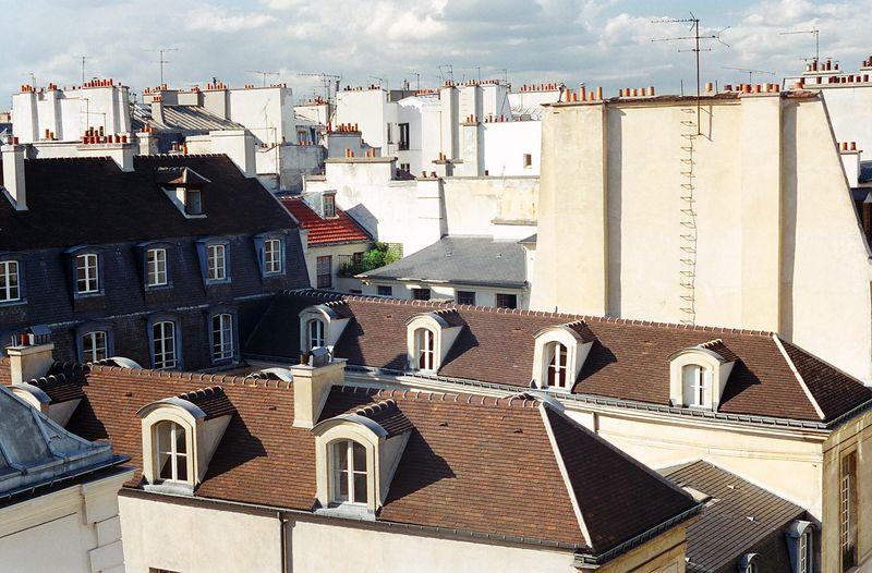 Rooftops from a Marais hotel...