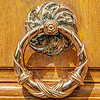 Gilded Door Knocker in Paris