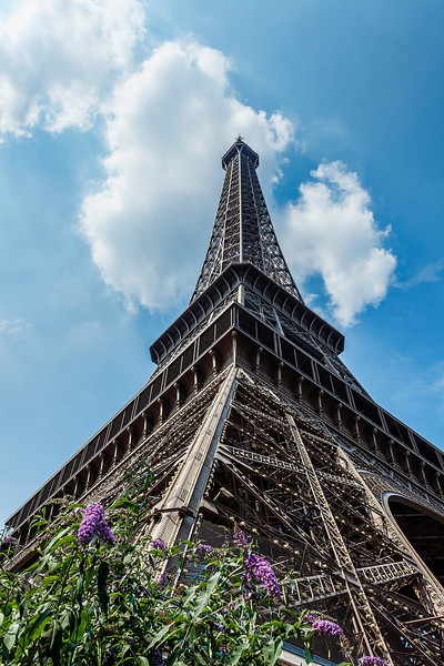 Looking up - The Eiffel Tower