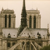 View of Notre Dame from the Seine.