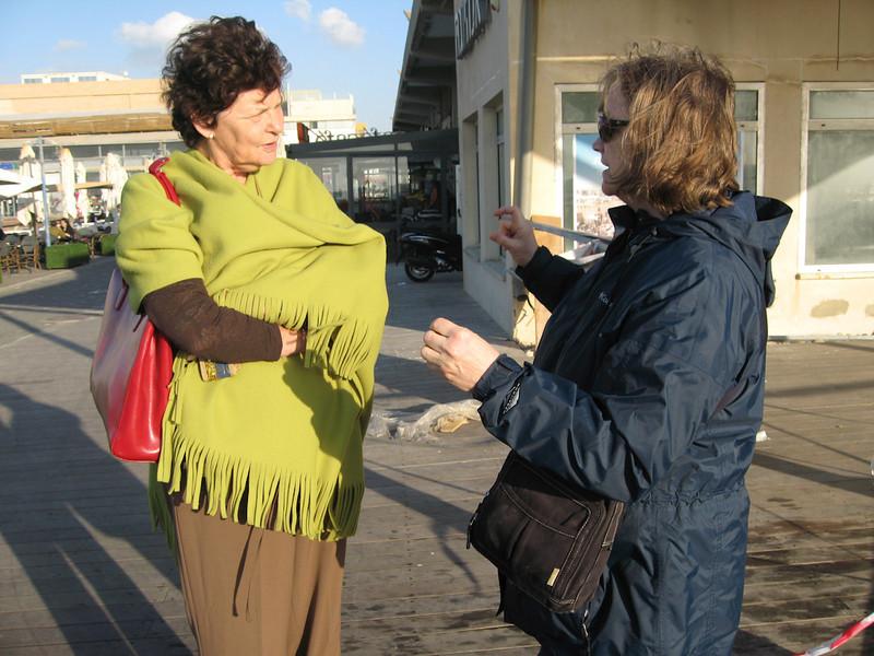 Haifa 2011 048<br /> <br /> Daphna Cohen-Mintz with Evelyn by the Tel Aviv docks