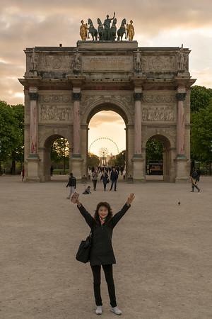 Paris, St Germaine area, Louvre, Notre Dame
