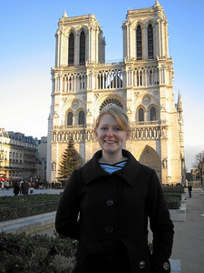 In front of Notre Dame.