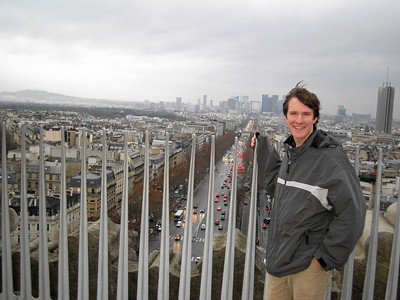 Ben at the top of the Arc de Triomphe.