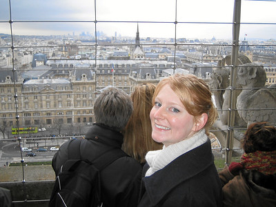 Top of Notre Dame. It was cold and windy, and one of my favorite parts of the trip.