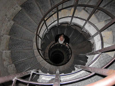 On out way back down the Arc. 283 steps in a dizzying spiral staircase.