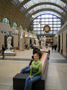 Musée d'Orsay. This used to be a train station, now it's a museum.