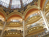 The stunning Galeries Lafayette - a very upscale multi-story shopping mall.