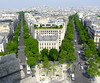 A view from the Arc de Triomphe.  Our apartment was down the avenue on the right.  We were a 3 minutes walk from the Arc and subway station.  We rode the subway everyday to see different Paris sights.