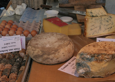 Cheese at the street market.