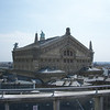 rooftop terrace of the department store overlooking the Paris Opera