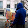 Painter, Rive Droite, Paris, December 2008