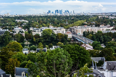 View of Paris Distant Skyline