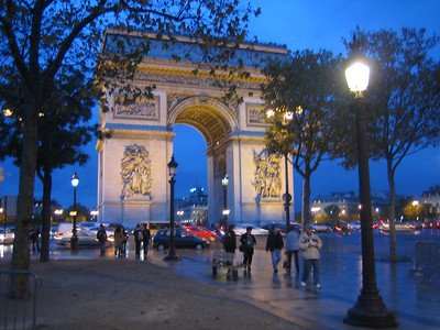 Arc de Triomphe - This Arc is located at the end of the Champs Elysees, an avenue that might be equated to Fifth Avenue in New York City.  It was built at the command of Napoleon I.