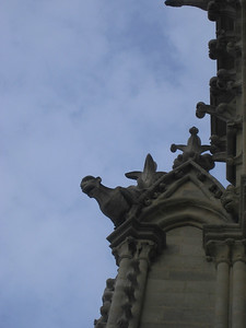 The leftmost creature actually serves as a water drain for the Cathedral.