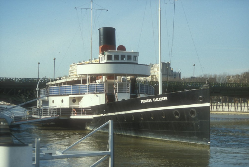 After WW2 she returned to her civilian duties until 1953 when she became a reserve steamer. In 1959 she was sold to Torbay Steamers Ltd. She finally retired from active service in 1966. In 1970 she became a floating restaurant on the Thames upstream of London Bridge. She moved to Paris in 1987 as a museum of typographical art.