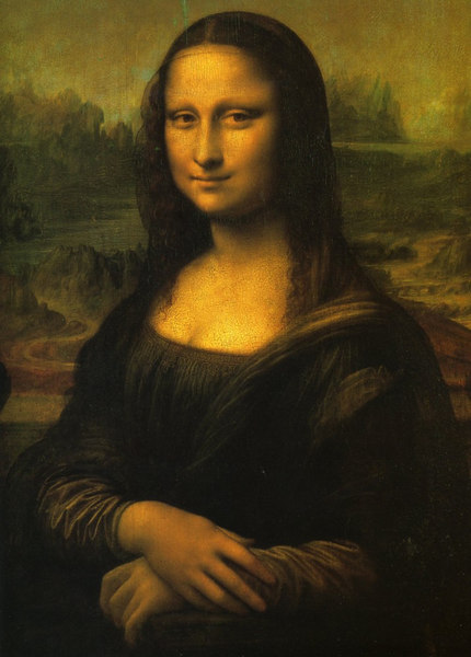 Treasures of the Louvre - undoubtedly the best known painting in the museum, Leonardo da Vinci's La Gioconda or Mona Lisa, dating from the 16th Century.