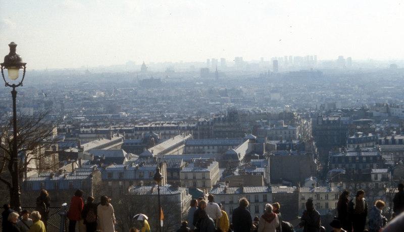 A winter haze over Paris, viewed from Montmatre