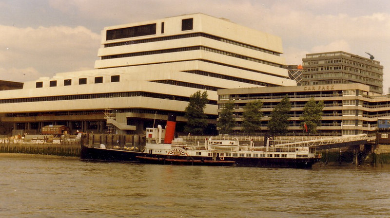 Going back almost 20 years, a view of Princess Elizabeth in 1977 at her 'permanent' berth on the Thames just upstream of London Bridge.